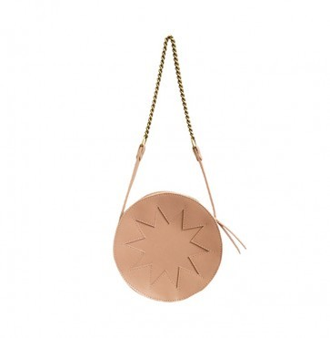 Zig Zag Pouch Circle Nude Pink