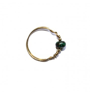 Ring Forest Green Bead