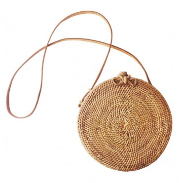 Rotan Bag Round with Bow