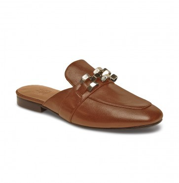 Slipper Brown With Gold Detail