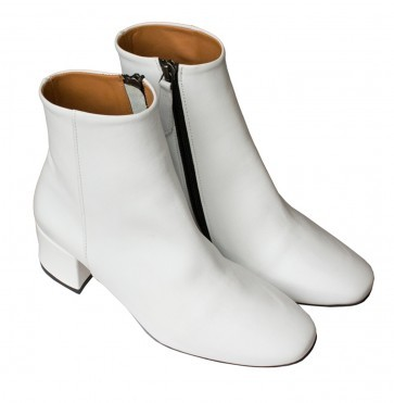 Boots Milaya White Leather