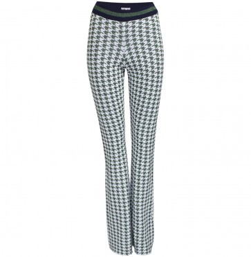 Pants Connie Green Houndstooth