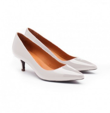 Pump White Patent Leather