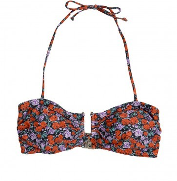 Bikini Top Canta Small Red Rose