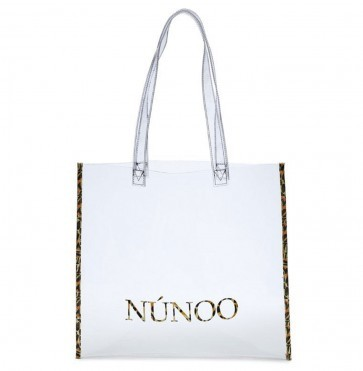 Small Tote Bag Transparent with Leopard