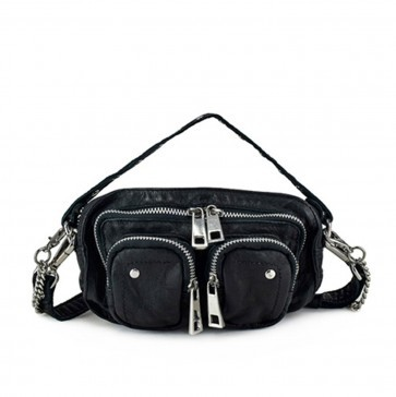 Small Shoulderbag Helena Washed Black