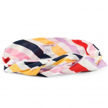 Bandeau Bardot Multi Color Stripes