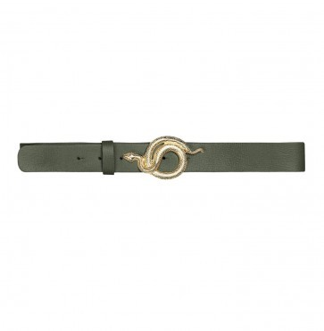 Leather Belt Milo Army Gold