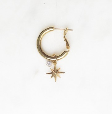 Earring Hoop Northstar Shiny Gold