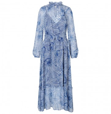 Dress Antoinette Blue Tiger Shell