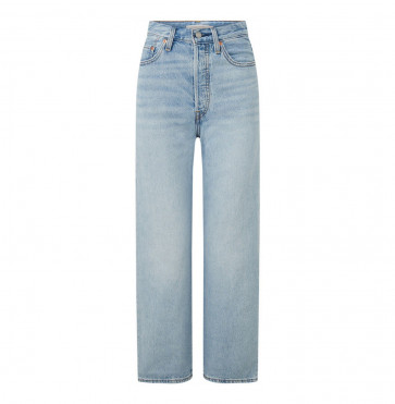 Jeans Ribcage Straight Ankle Middle Road