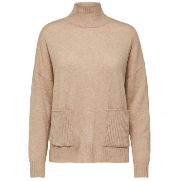 Cashmere Pocket Sweater Eya Amphora Melange