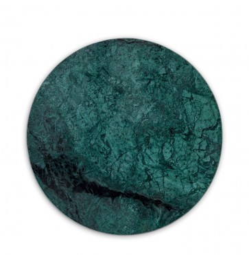 Green marble board round