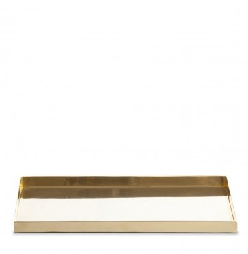 Rectangular brass tray