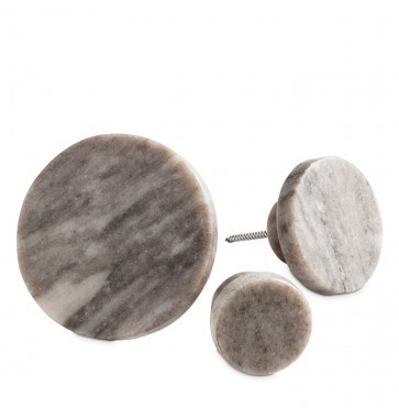 Brown marble coat hook large