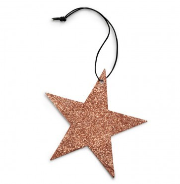 Copper 5 point glitter star