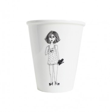 Cup Porselain Coffee Girl