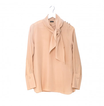 Vintage Silk Blouse and Trousers Peach
