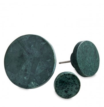 Green marble coat hook large