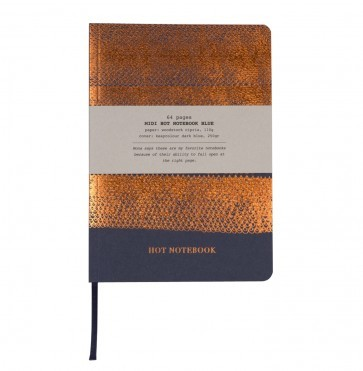 Hot copper notebook A5 blue