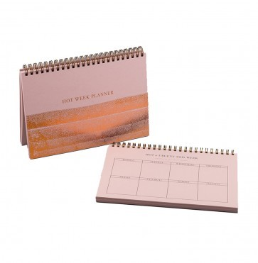 Big hot weekly planner A5 pink