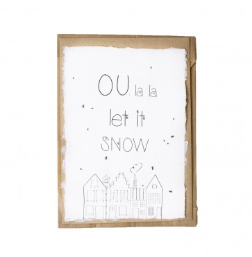 Kerstkaart Oulala let it snow