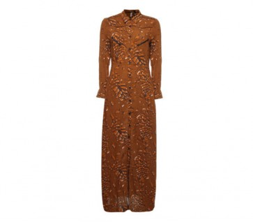 Maxi Dress Leopard Rubber
