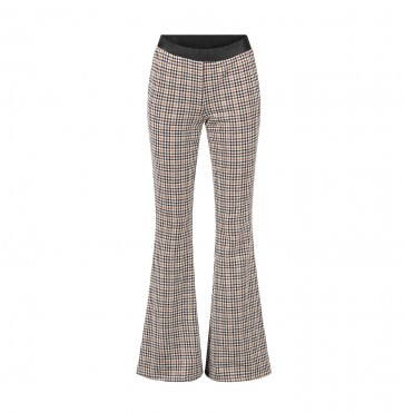 Trousers Houndstooth Brown/Beige