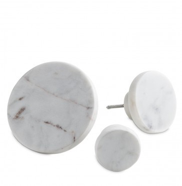 White marble coat hook large