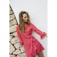 Wrap Dress La Concah Red Flower