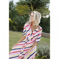 Maxi Dress Johanna von Oswald Multi Color Stripes