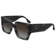 Sunglasses Wide Flat Square in Grey Smoke