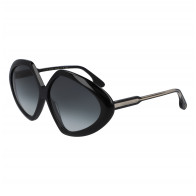 Sunglasses Faceted Round in Black