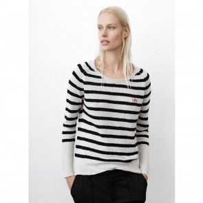 Sweater Reese Black White Stripes
