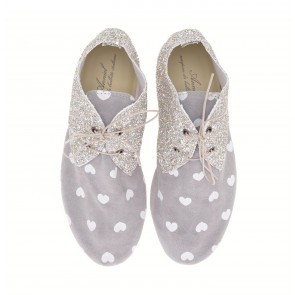 Anniel Light Grey Hearts High