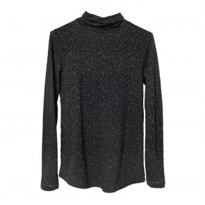 Turtleneck Leopard Black