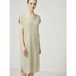 Knee Dress Ivy Slate Green Melange