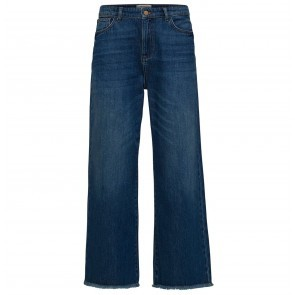 Cropped Wide Jeans Bayblue