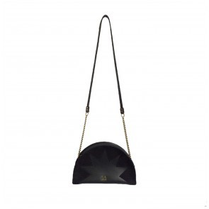 Zig Zag Purse Demi Circle Black