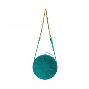 Zig Zag Pouch Circle Turquoise