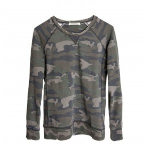 Sweatshirt Distressed Camo