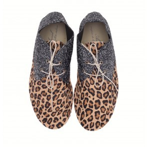 Anniel Brown Leopard Glitter High