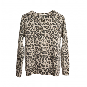 Sweatshirt Distressed Faded Leopard