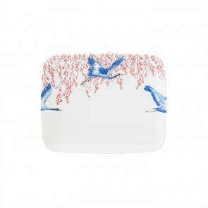 Rectangle Sushi Plate 22cm Cherry Blossom & Lucky Cranes