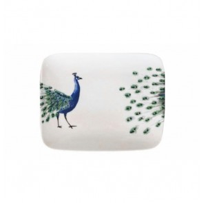Rectangle Sushi Plate 22cm Peacock Head & Tail