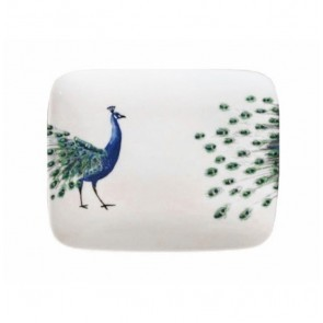 Rectangle Sushi Plate 29cm Peacock Head & Tail