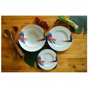Dinner Plate 27cm Parrot Head & Tail