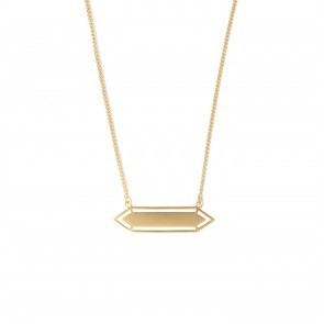 Necklace Long Hexagonal