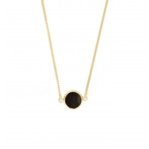 Necklace Round Resin Black