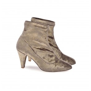 Anniel Stretch Boot Cream Velvet